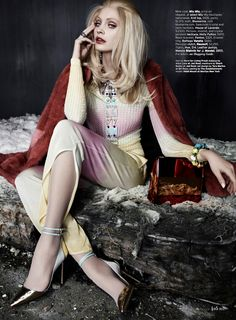 paris review: heidi mount by catherine servel for us elle march 2013   visual optimism; fashion editorials, shows, campaigns & more!
