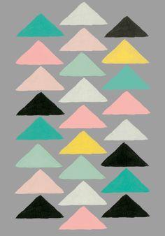 #Geometric Triangles Rosehip UK
