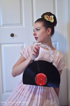 my new record handbag made using Charlotte's excellent DIY tutorial! read more on my blog: http://elegantmusings.com/2011/08/outfit-record-setter/ #DIY #vintage #record #handbag