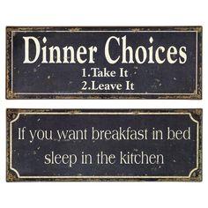 2 Piece Breakfast  Dinner Wall Decor Set