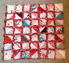 If you love cute rag quilts but you want to make something a little more interesting than rag #quilt squares, the Half-Square Triangle Rag Quilt is for you! This free #pattern for a baby quilt combines rag #quilting with traditional piecework for an adorable baby rag quilt that's easy to customize.
