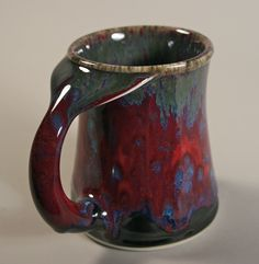 Whale Tail mug from Edgecomb Potters 19oz, whale tail, metal glaze, potter red, whale obsess, whales, edgecomb pottery