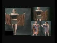 como se usa la pollera multiuso de seda de la india - YouTube