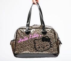 Another Cute Hello Kitty Overnight Bag: Glitter Leopard =)