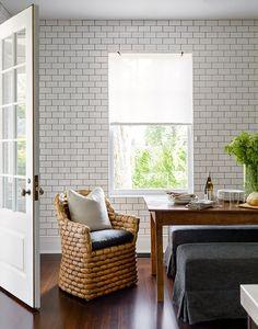 chair, subway tiles, kitchen walls, kitchen tiles