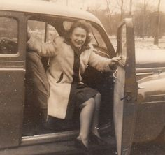 Stepping out in wintry 1940s style. #vintage #1940s #photos #woman