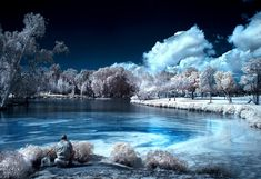 infrared Photography : The Fisherman by Roie Galitz