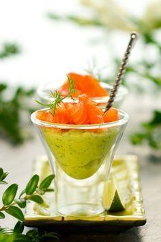 Dukan recipe Salmon and Broccoli Verrines