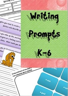 Writing prompts for K-6 - 90 pages, 250+ writing prompts.