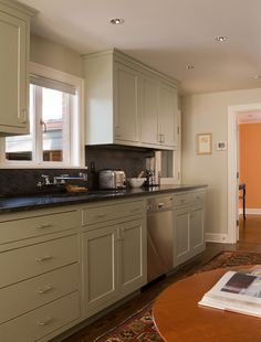 painted cabinets with soapstone