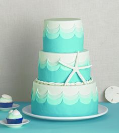 By the Sea cake, designed by Erin Gardner