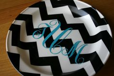 Monogram Plate {silhouette project}