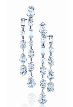 De Beers Swan Lake earrings