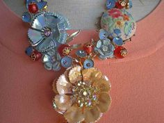 Vintage Flower Brooch repurpose
