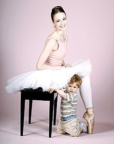 Julie Kent with her son