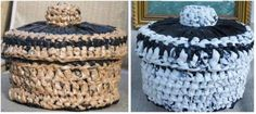 Plarn CD Basket with Lid crochet pattern $3.00