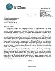 Job Application Letter Latex