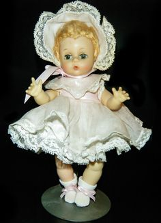 "Vintage Madame Alexander Little Genius 8"" Baby Doll Tagged Outfit"