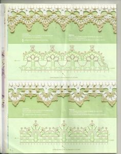 Russian Crochet Patterns With Charts   crocheted edging patern
