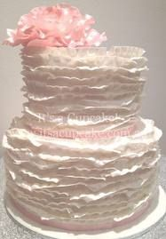 ruffle cake, wedding cakes, baby shower cakes girl, design cakescupcak, ruffl cake
