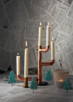 Can a handyman make this candlestick for me? Then I might be able to get trees like theese stand up on the table.