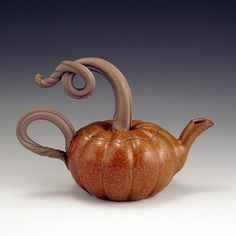 John Bauman, Pumpkin Teapot cup, tea time, pumpkin teapot, tea pot, pumpkin spice