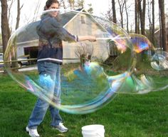 How to Make Huge Long Lasting Bubbles for Kids