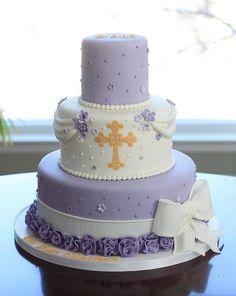 Lavender Baptism Cake by cakeboxsoc, via Flickr
