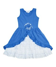 This Blue Ruffle Tank Dress - Infant, Toddler & Girls by Candy Bean is perfect! #zulilyfinds