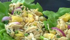 Pineapple Chicken Lettuce Wraps (serves 2-3 with 2 wraps per person)