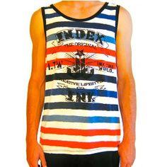 "Men's ""Sail On"" Tank by Index Ink #InkedShop #stripes #tank #top #clothing #Men"