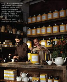 Wonderful tea shop...love the yellow!