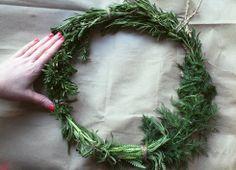holiday herb, card idea, herb wreath, diy herb, herbs, holiday idea, christma craft, wreaths, diy holiday