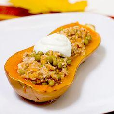 Calabaza Rellena a la Griega - Blog de Recetas Saludables Y Vegetarianas