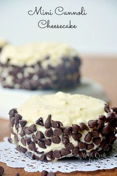 Mini Cannoli Cheesecakes