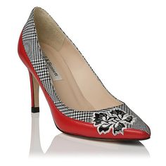 Aretha Leather Check Point Toe Court | View All | Shoes | L.K.Bennett, London