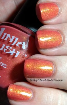 Ninja Polish - Pacific Coral Ninja Nail Polish Lacquer Floam Holographic metallic effect nail polish @opulentnails #ninjanails #floam