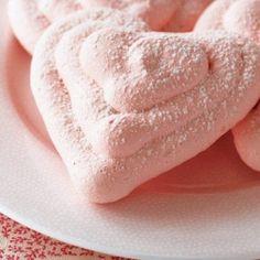 Cherry meringues