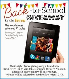 Come celebrate going back to school by winning a Kindle Fire! #giveaway http://www.highheelsandgrills.com/2014/08/back-to-school-kindle-fire-giveaway.html