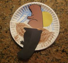 Groundhog's Day Paper Plate Craft