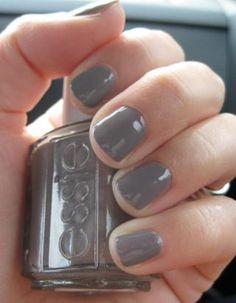 Essie Chinchilly grey nail polish