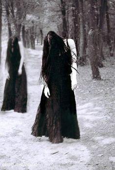 black hair nightmares snow darkness