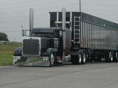 pics of custom semis | Free Lowrider Custom Black Truck_____ Wallpaper - Download The ...