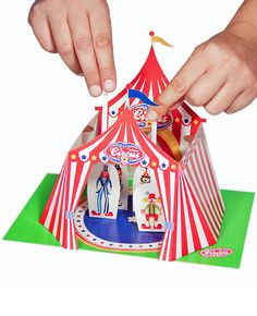 Circus Paper Theater - Printable PDF Toy - DIY Craft Kit Paper Toy with free Paper Finger Puppets - Birthday Party Favor. via Etsy.