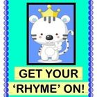 """RHYTHM STICKS AND RHYMING WORDS!  Need a good ACTIVE GROUP GAME with a strong Rhythm Pattern that your kids can follow?  Get out your RHYTHM STICKS and 'keep the beat!  Your kids will dress up a BIG stuffed animal as the """"Mugwump Party Queen""""!  They'll create funny RHYMES FROM CONTEXT CLUES as they dress the 'Queen' in her party clothes.  (7 pages)  MULTI-SENSORY LANGUAGE ARTS from Joyful Noises Express TpT!  $"""
