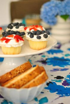 Red, white & blue cupcakes (the easy way!!) via Young House Love