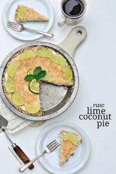 Raw Lime Coconut Pie