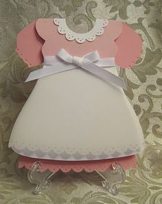 Template for baby dress card