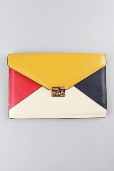 MINUSEY - color block clutch