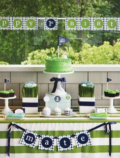 Cute Ideas for golf party